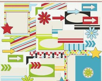MEGA SALE Outside Clipart - Journal Cards Labels -  Scrapbooking Clip Art Clipart - G7772