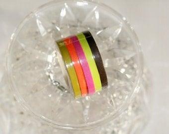 Thin Washi Tape Set of 5(5mm)