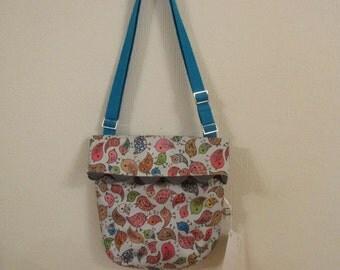 Fold over flap bag