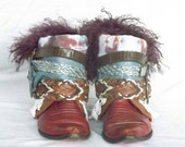 Gypsy boots, festival boots, ready to ship, boho boots, upcycled boots, hippie boots, upcycled cowboy boots, embellished boots, boot belts