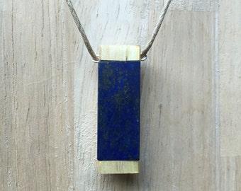 Lapis Lazuli with wood setting