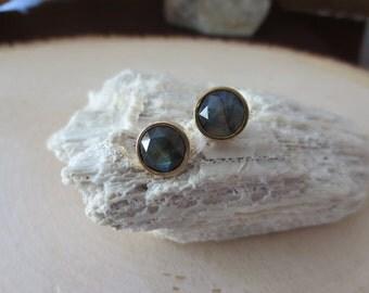 Labradorite studs, labradorite earrings, labradorite post earrings, labradorite stud earrings, labradorite gold earrings