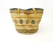Market Tote/Woven Jute Hobo Bag