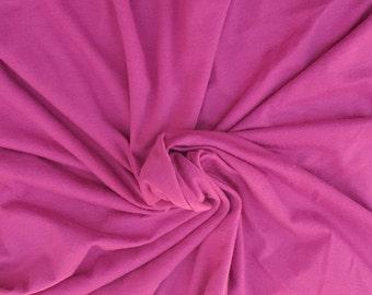 Raspberry Organic Cotton Spandex Fabric Eco Friendly Jersey Knit By Yard 4/16