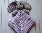 Purple Bunny Lovey -- Ready to Ship