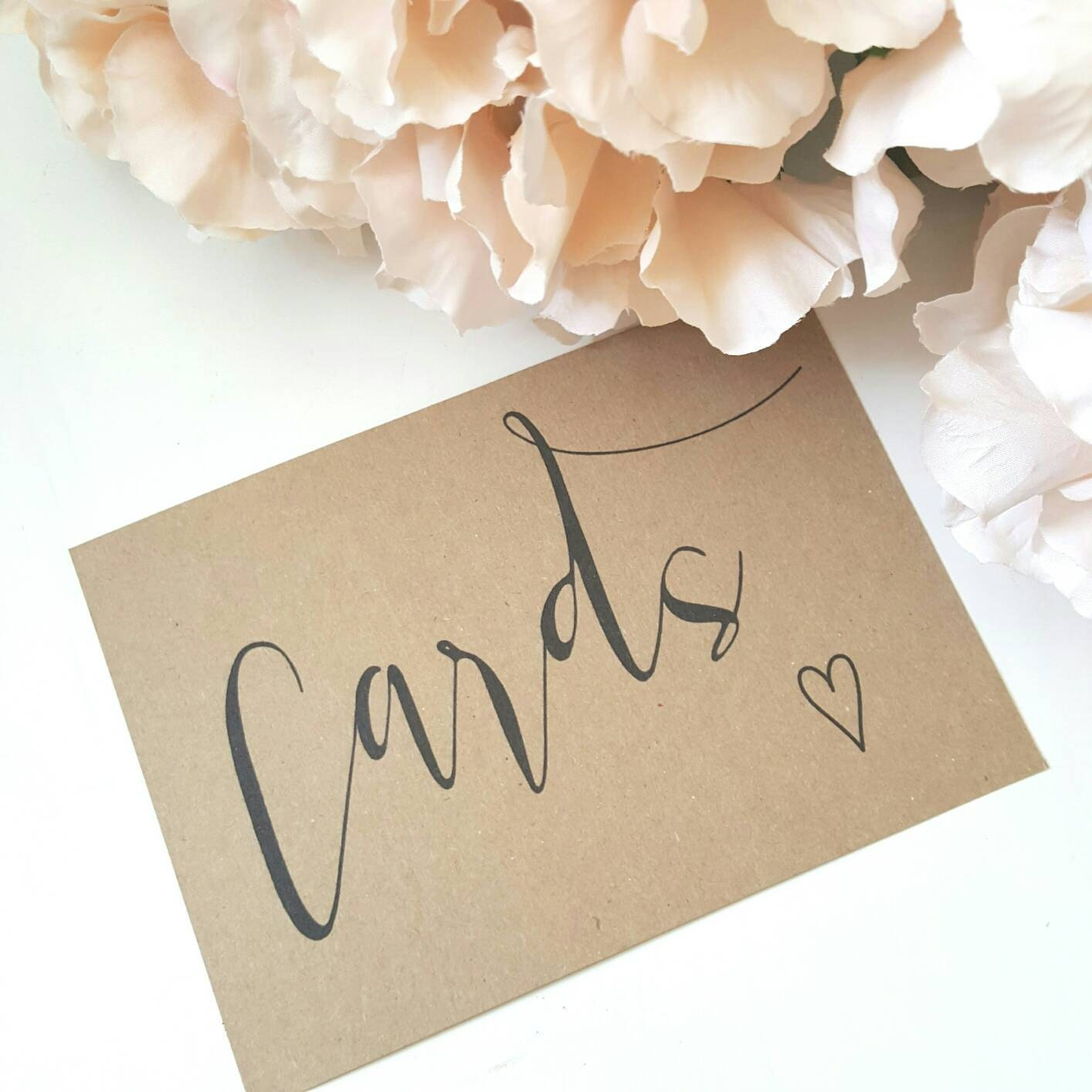 Cards Sign Wedding Card Sign Party Signage