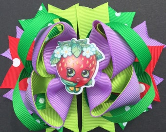 Strawberry Kiss Hairbow