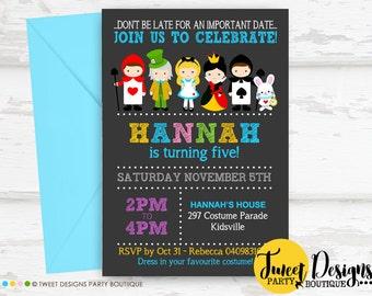 Alice in Wonderland INVITATION, Alice in Wonderland Printable, Invitation, Wonderland Party, Print Yourself Invitation, Birthday Party Girl