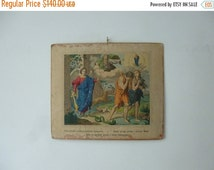 ON SALE 30% OFF 5 day delivery worldwide - Antique Bible Old Testament Scene Chart - The Fall Wall Hanging Lithograph - 1906