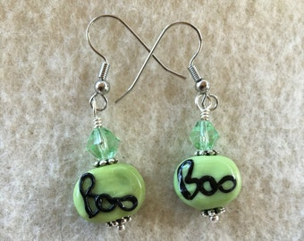 Halloween Boo Earrings