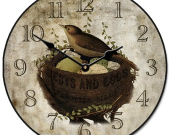 Nest & Eggs Wall Clock