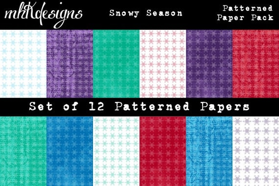 Snowy Season Digital Paper Pack