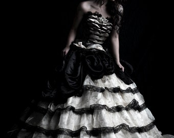 Couture Organza & Satin Ballgown/Wedding Dress