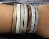 Reclaimed barn wood leather cuff