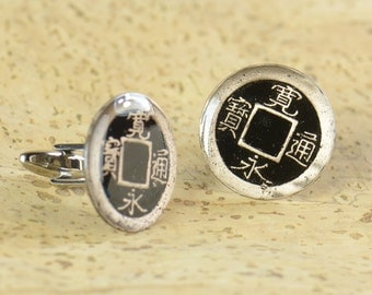 Antique japanese  coin - Cufflinks  Japan