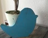 Distressed Wooden Bird