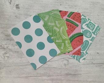 Filofax Dividers - Pocket Size - Watermelon Teal Theme - set of 4