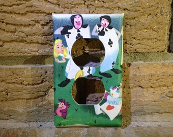 Alice in Wonderland Electrical Outlet Cover Plate