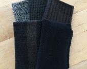 Black Mix of Wool for Wool Applique and Rug Hooking
