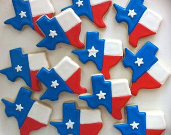 Texas Flag Cookies