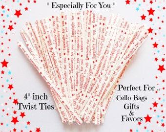 25 Twist Ties ( 4 inches ) .. Twist Ties, White Twist Ties, Paper Twist Ties, Gift Twist Ties, Packaging Twist Ties