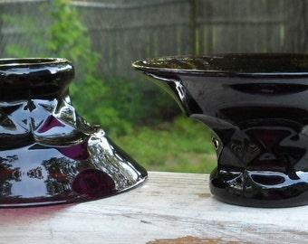 Cambridge Glass Georgian # 319 Low Flared Sherbet Bowls set of 2 circa 1940-1950's
