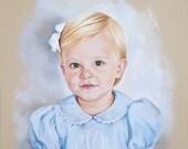 Pastel portrait of a girl.