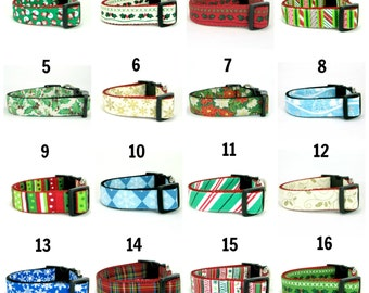 Christmas Dog Collar- (Mini,X-Small,Small,Medium ,Large or X-Large Size)- Adjustable
