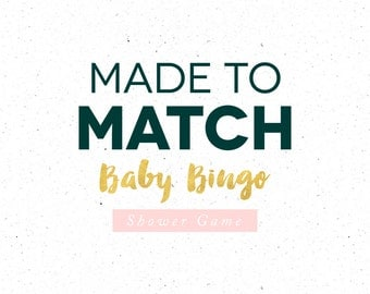 Bingo Game Upgrade, Made to Match Bingo Baby Shower Game, Custom Colors or wording to Match to our Themes
