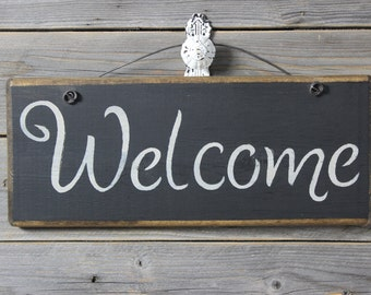 Welcome, wooden quote sign, wood sign,welcome sign,handpainted