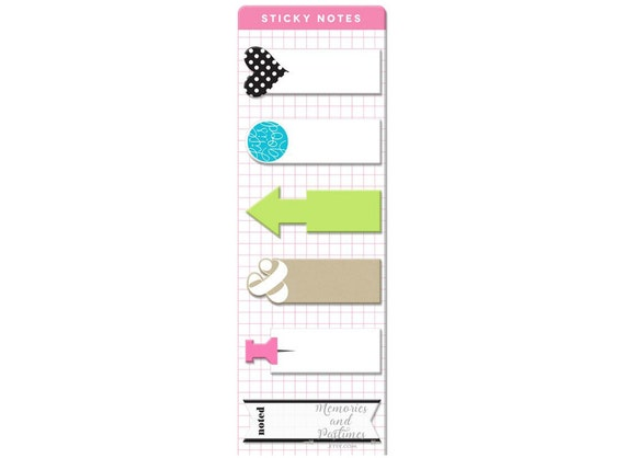 Sticky post it notes happy planner accessories for Happy planner accessories