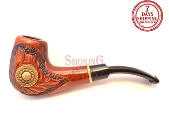"Tobacco Smoking Pipe ""ROMAN"". Smoking Pipe. Wooden smoking pipe. Handmade, Handcarved, Tobacco pipes"