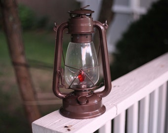 Electric Lantern Table Lamp, BRONZE LANTERN, BROWN, Electric Hurricane  Lantern, Night Light
