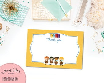 Brownies Thank You Note, Girl Scout Cookies Thank You Card, Thin Mints Thanks {INSTANT DOWNLOAD}