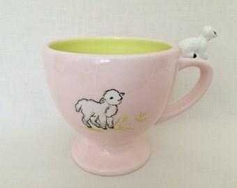 KATE WILLIAMS GLOBAL Designs Mug - Pink & Lime Green - 3D Lamb