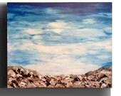 Custom Abstract Painting blue seascape painting modern wall Decor, canvas Art, wall Art, Sea painting,  Acrylic Art by Sami