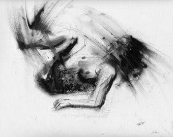 Haunting Fine Art Figure Drawing, No. 86