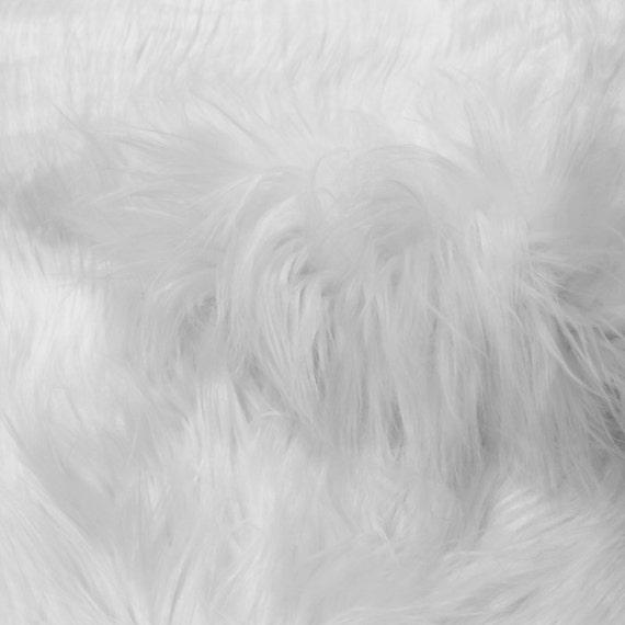 white mongolian fur fabric by the yard soft fake fur fabric. Black Bedroom Furniture Sets. Home Design Ideas