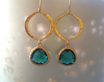 Blue Zircon Marquis Earring