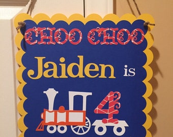 Vintage Train Birthday Sign