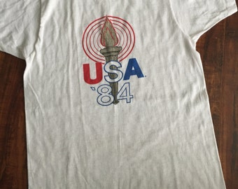 SALE! Vintage 1984 Screen Stars USA tee shirt ~size Small