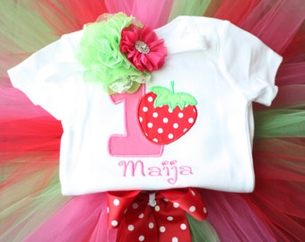 Strawberry Birthday Outfit