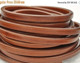 55% OFF Licorice Leather Cord Cognac - 10mm x 6mm - 8 inch/20cm piece
