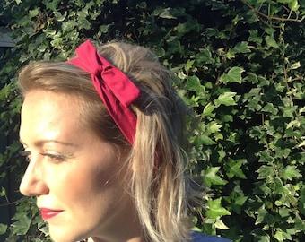 Magenta wired headband