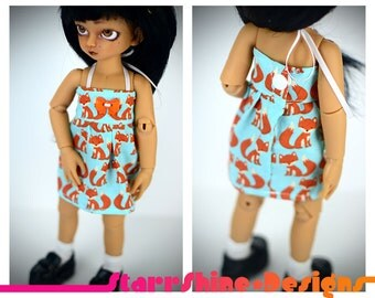 BJD YoSD 1/6 Doll clothing - Sundress in Cute Foxy Print