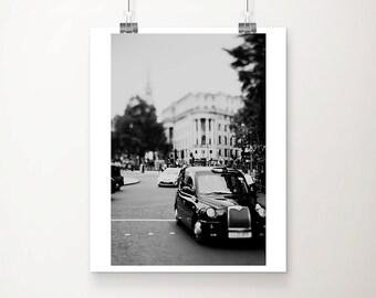 London photograph London decor black and white photography London cab photograph Black Cab photograph London print London art