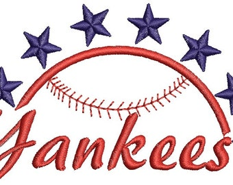 Yankees- Machine Embroidery Design