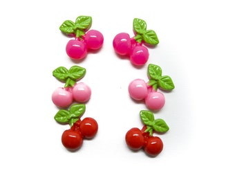 Cherries clip-on earrings