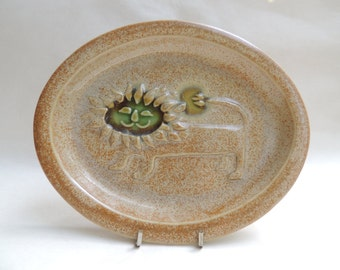 Lion Plate by David Gil for Bennington Pottery, Vermont, Mid Century