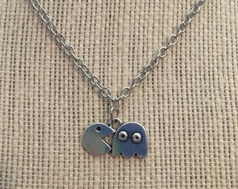 "16"" Silver PacMan Necklace"